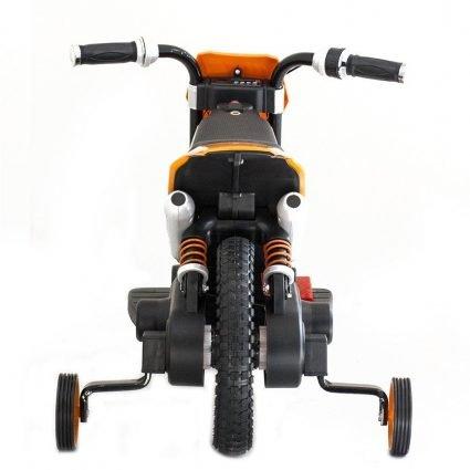 Детский кроссовый электромотоцикл оранжевый Qike TD 6V - QK-3058-ORANGE