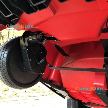 Электромобиль Mercedes-Benz GT R MP4 - HL289-4WD красный (сенсорный дисплей MP4, 2х местный, колеса резина, кресло кожа, пульт, музыка, кондиционер)