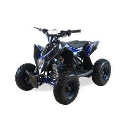 Детский квадроцикл бензиновый Motax GEKKON 70cc черно-синий (пульт контроля, до 45 км/ч)