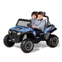 Электромобиль Багги Peg-Perego Polaris Ranger RZR 900 Blue (2х местный, колеса глубокий протектор, скорость до 7,3 км/ч)