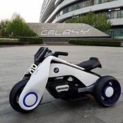Электромотоцикл BMW Vision Next 100 (трицикл) - BQD-6288 белый (широкие колеса, музыка, свет фар)
